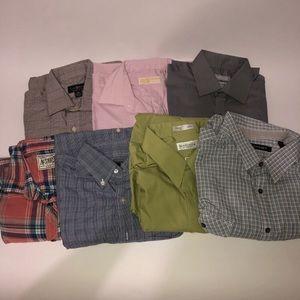 Men's Dress Shirt Mix Lot Of 7